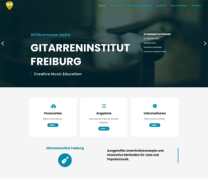 Gitarreninstitut Freiburg Website